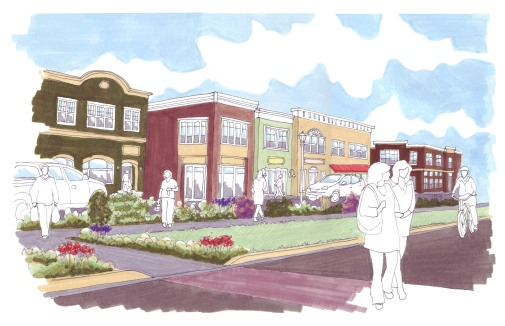 Proposed mixed-use development near downtown Connersville