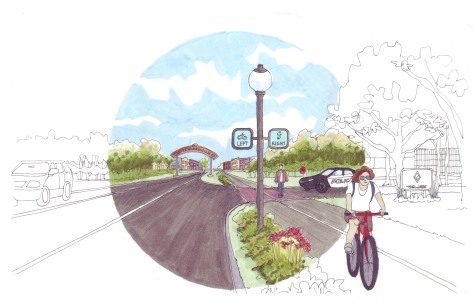 Proposed multi-use trail along SR 1